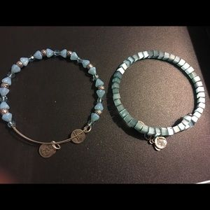 2 Blue Alex and Ani bracelets